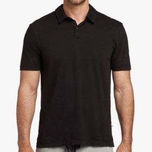 JAMES PERSE Black Sueded Jersey Polo Sz XXL